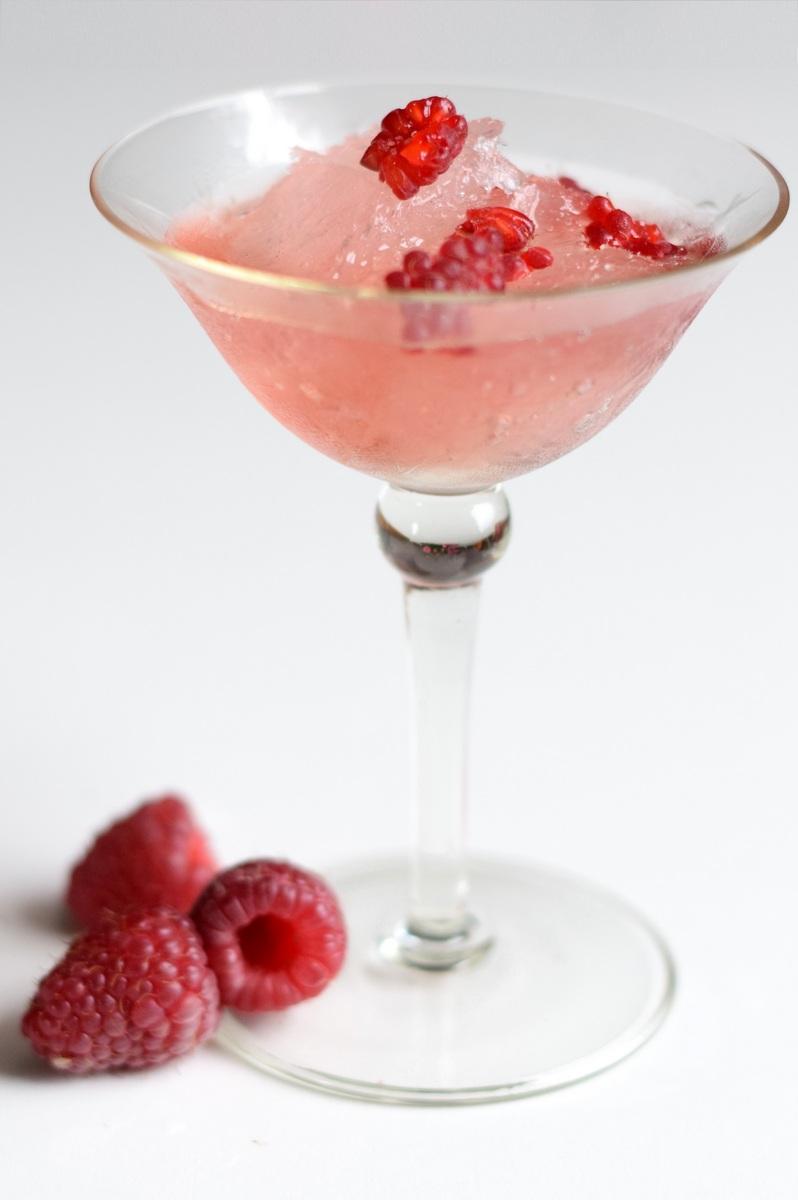Raspberry Lush Gin Slush cocktail