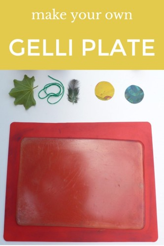 step by step instructions for making your own gelli plate (jelly plate)