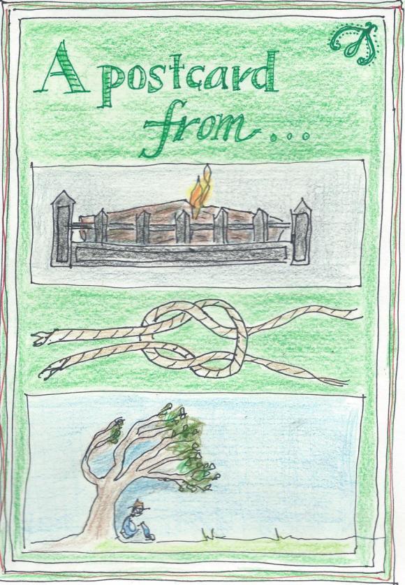 Rebus postcard