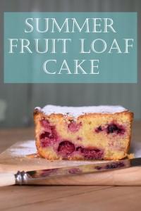 Summer Fruit Loaf Cake
