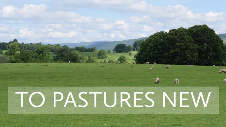 to pastures new