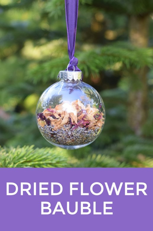 dried flower bauble