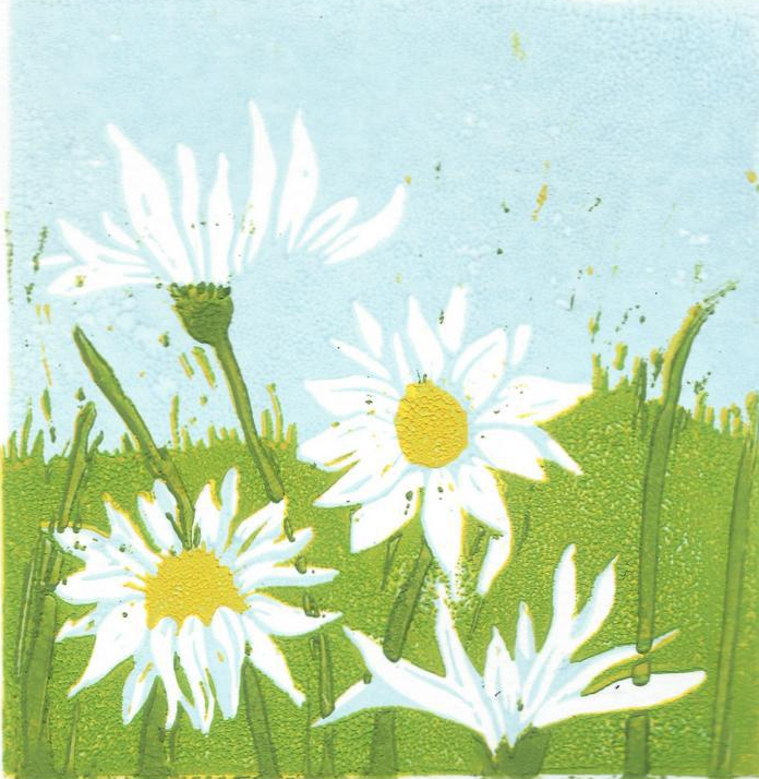 mayweed 2 reduction lino print