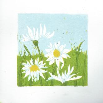 mayweed 2 reduction lino print