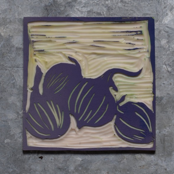 reduction lino onions inked