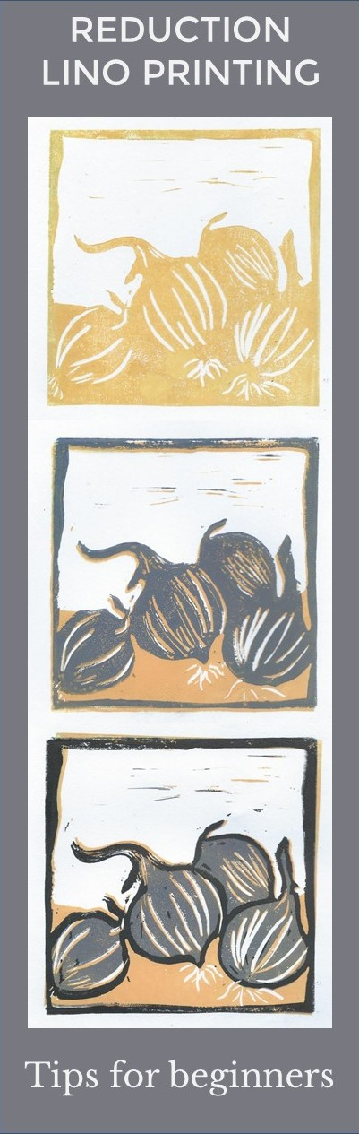 reduction lino printing for beginners