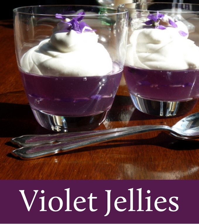 violet jelly topped with syllabub