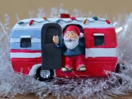 Father Christmas and caravan decoration