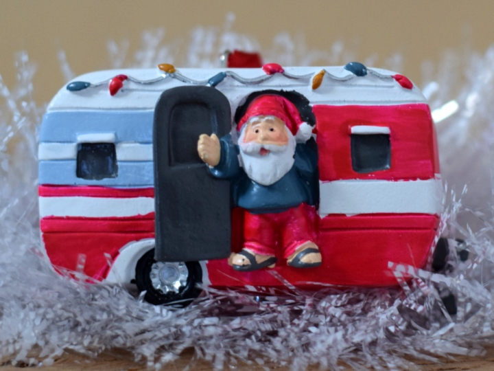 Father Christmas and caravan decoration