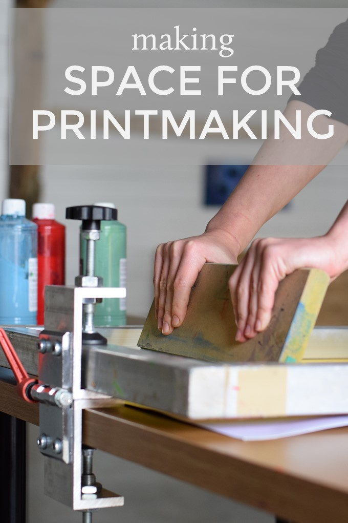 making space for printmaking