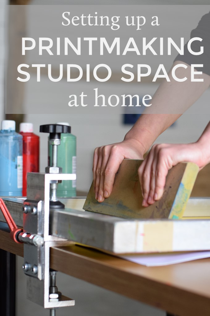 Setting up a printmaking studio space at home