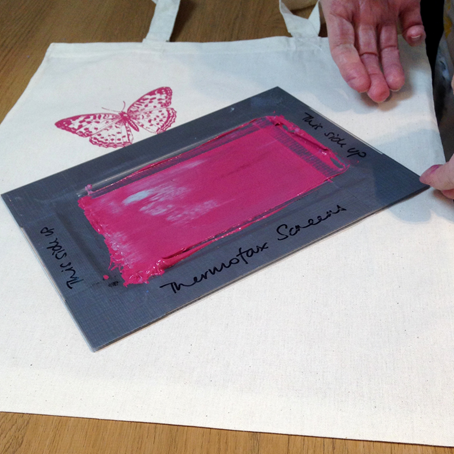 Screen printing with Thermofax screen