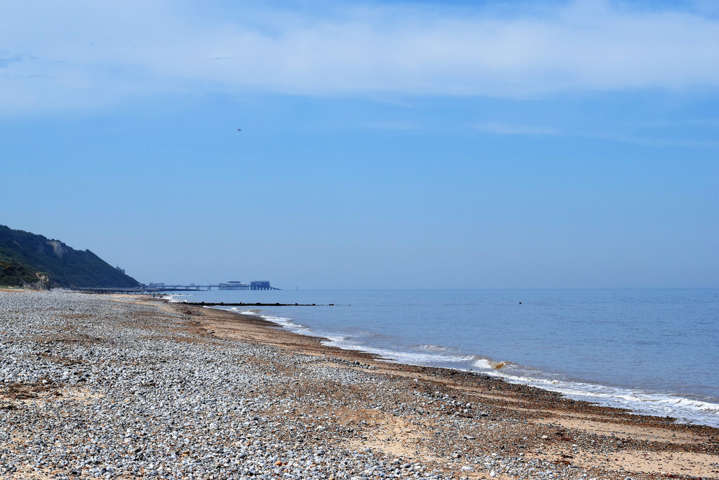 Beach looking northwards to Cromer on Norfolk Coast Path