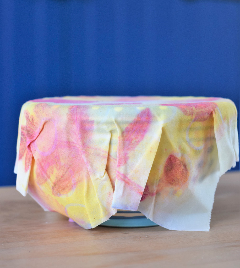 beeswax wrap jelly printed covering bowl