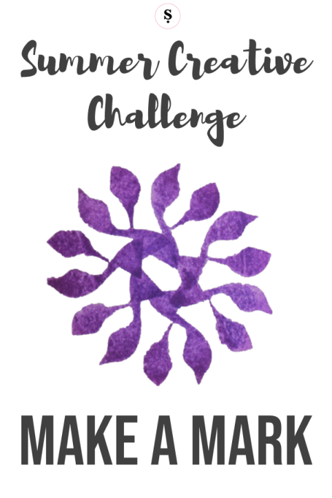 Summer Creative challenge make a mark with a simple rubber stamp