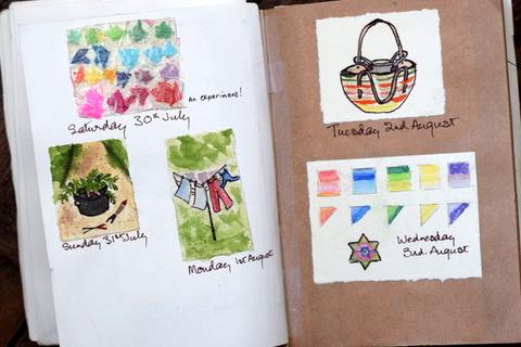 visual diary for Slamseys creative summer challenge