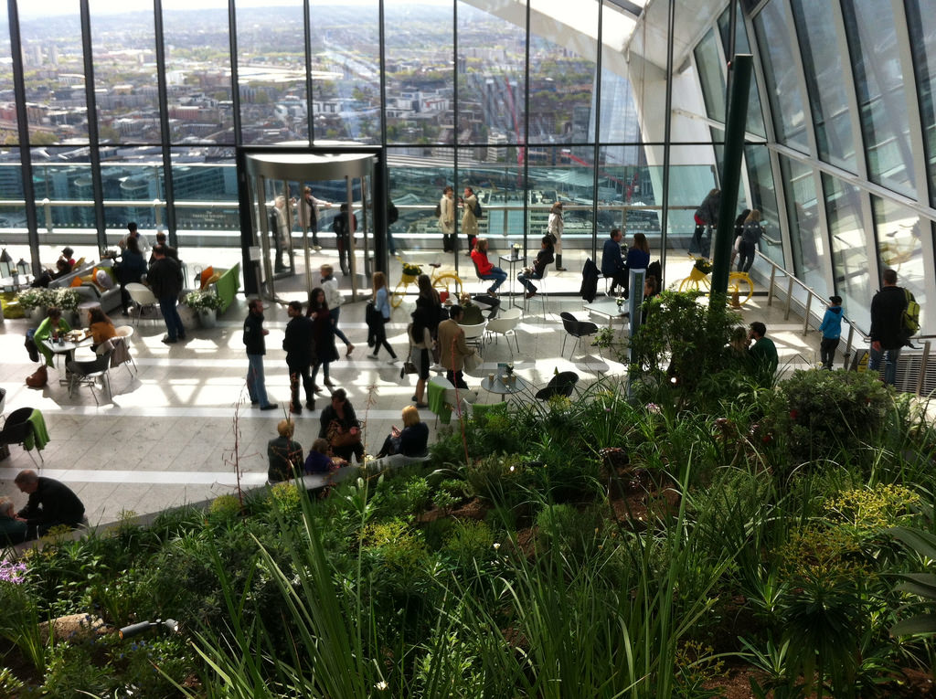tourists at the Sky Garden