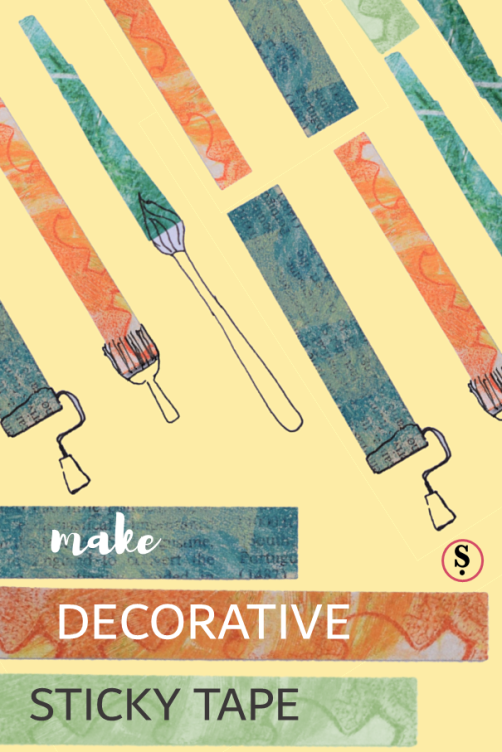 Make decorative sticky tape like washi tape