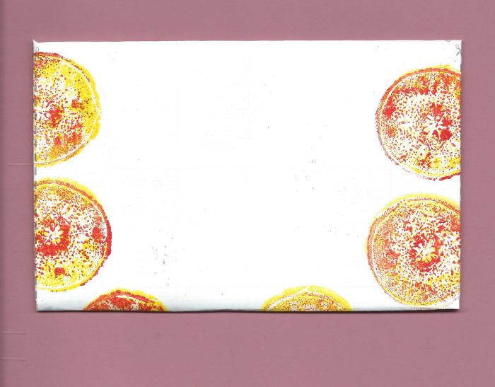 Fold and Send Mail fruit and vegetable prints