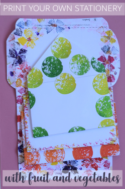Print your own stationery with fruit and vegetables