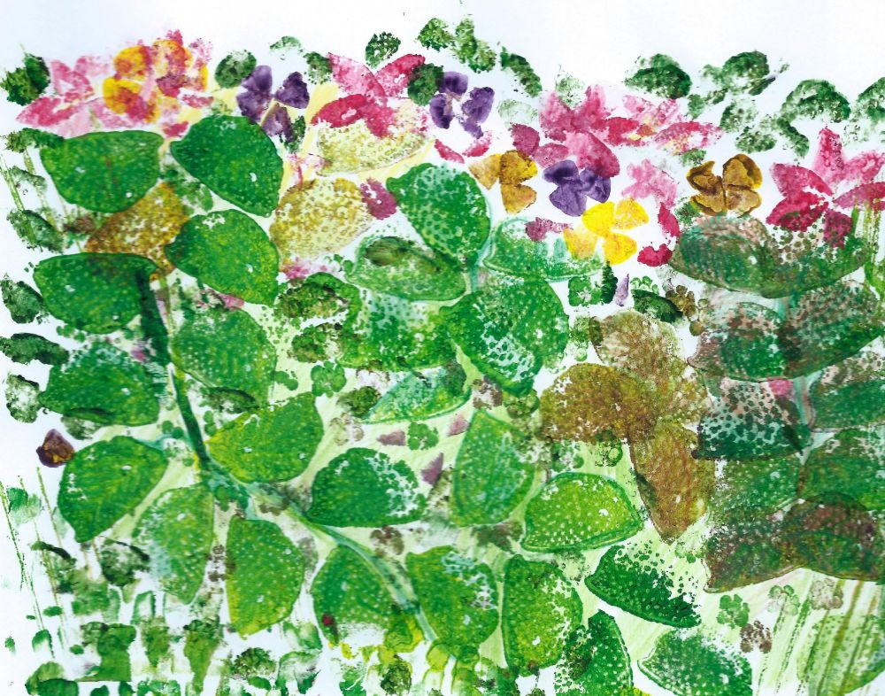 """Fruit and vegetable printing """"Jungle"""""""