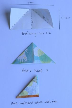 how to make a corner bookmark from scrap paper