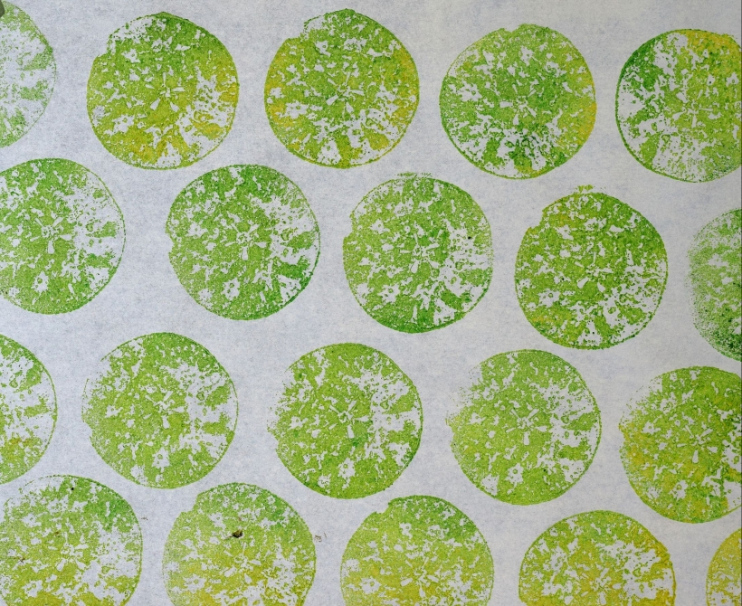 Fruit and vegetable Printing with wild pear