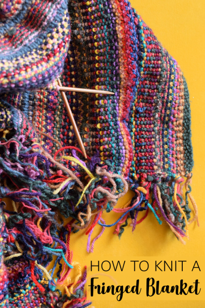 How to knit a fringed blanket
