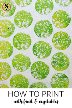 Printing with wild pears. How to print with fruit and vegetables