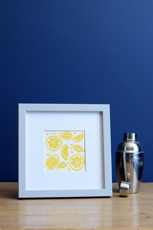 Lemon Yellow, Ruth Wheaton, Lino Print, 2018