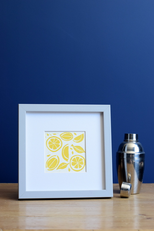 Lemon Yellow, Ruth Wheaton, Lino Print, 2018