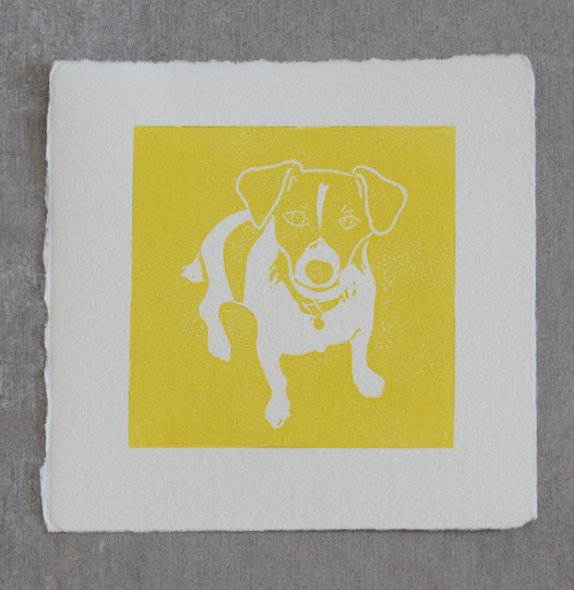 Nelson Yellow, Ruth Wheaton, Lino Print, 2018