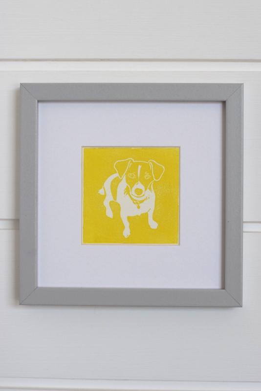 Nelson Yellow, Ruth Wheaton, Lino Print, 2018, on white