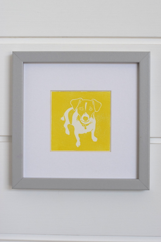 Nelson Yellow, Ruth Wheaton, Lino Print, 2018, on white
