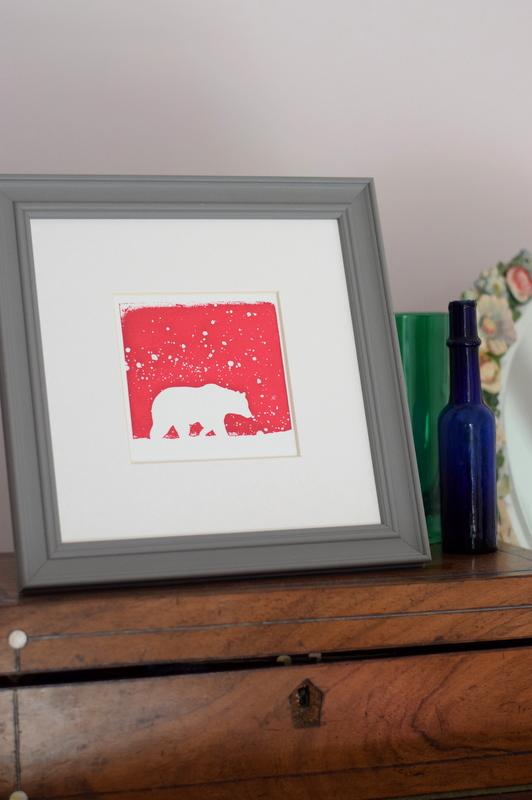 Polar Pink, Ruth Wheaton, Mini Screen Print, 2017