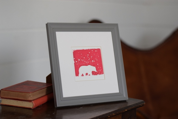 Polar Pink, Ruth Wheaton, Mini Screen Print, 2017,