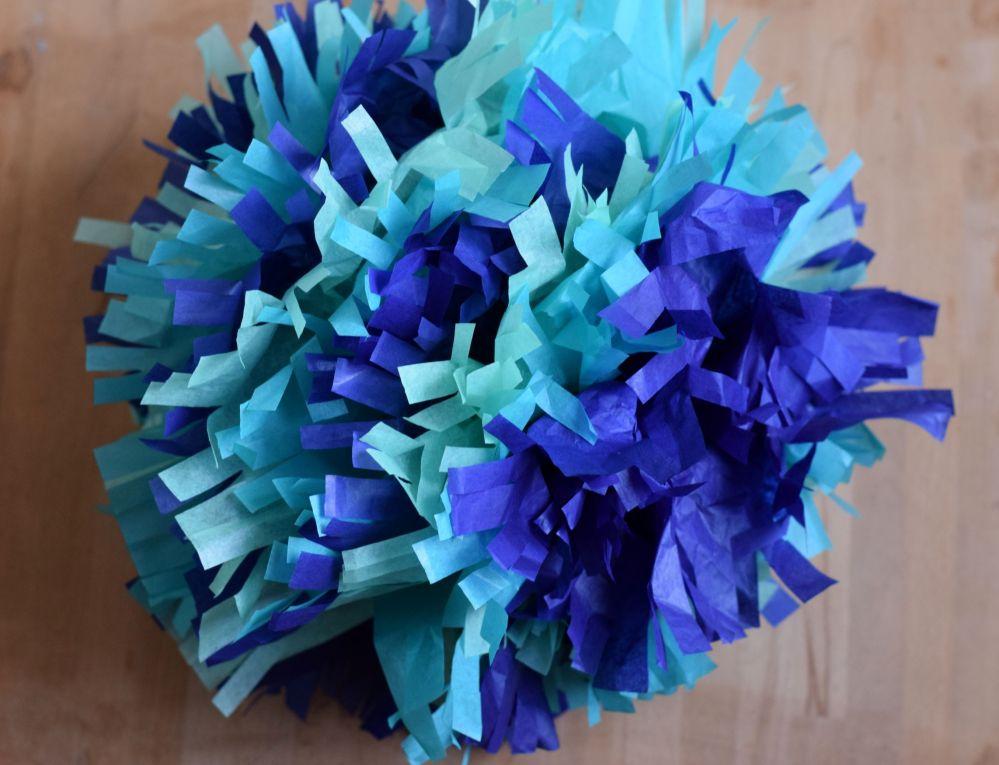 DIY Tissue Paper Pom Pom