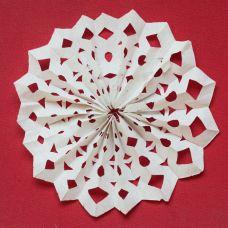 Flat paper snowflake