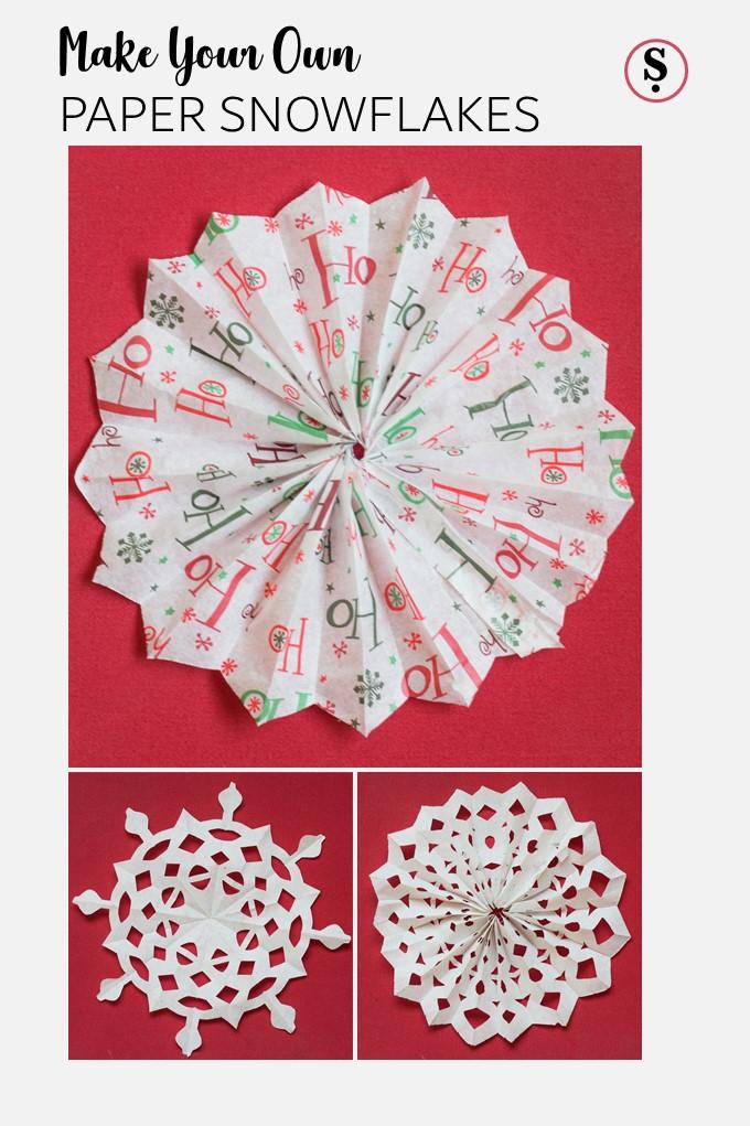 Make Paper Snowflakes
