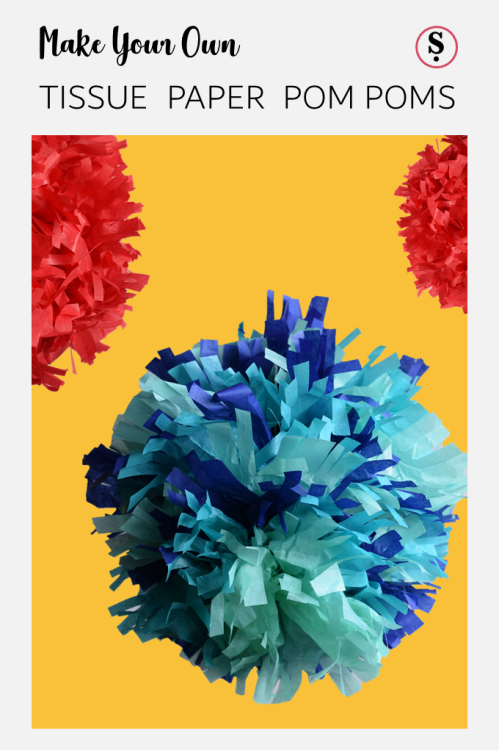 Make Your Own Tissue Paper Pom Poms