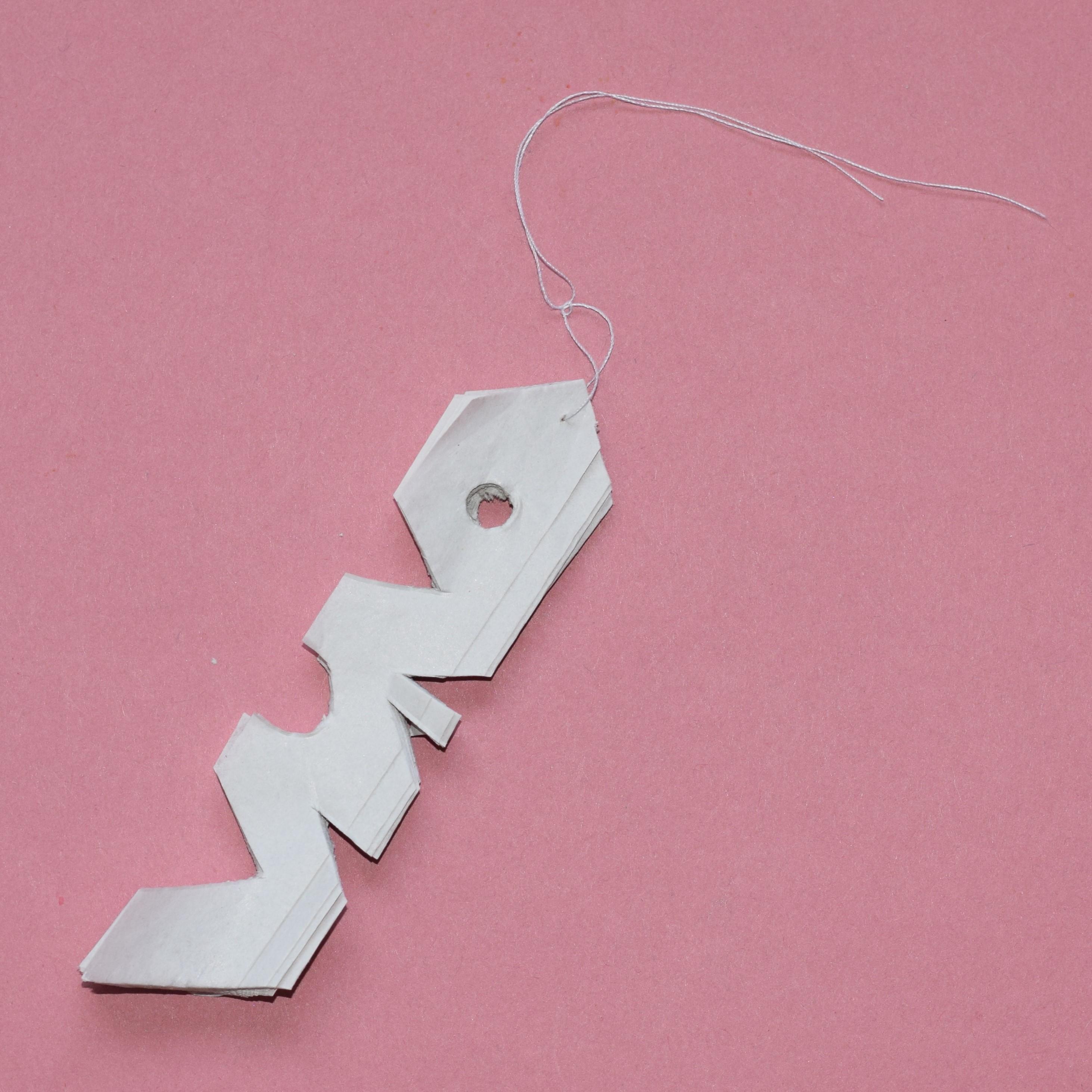 Making concertina paper snowflake step 3