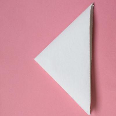 Making flat paper snowflake step 2