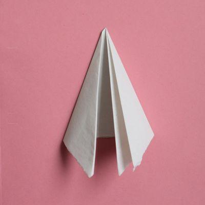 Making flat paper snowflake step 3