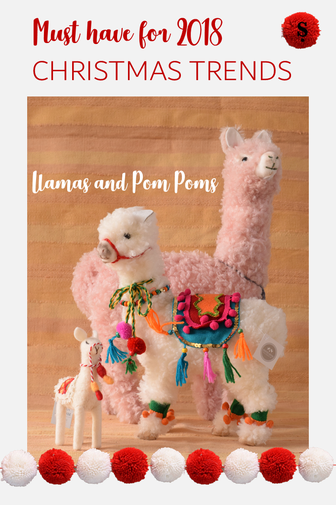 Must Have Christmas trend 2018 Llamas