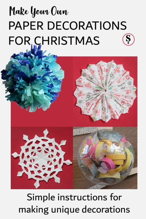 simple instructions for making unique Christmas paper decorations