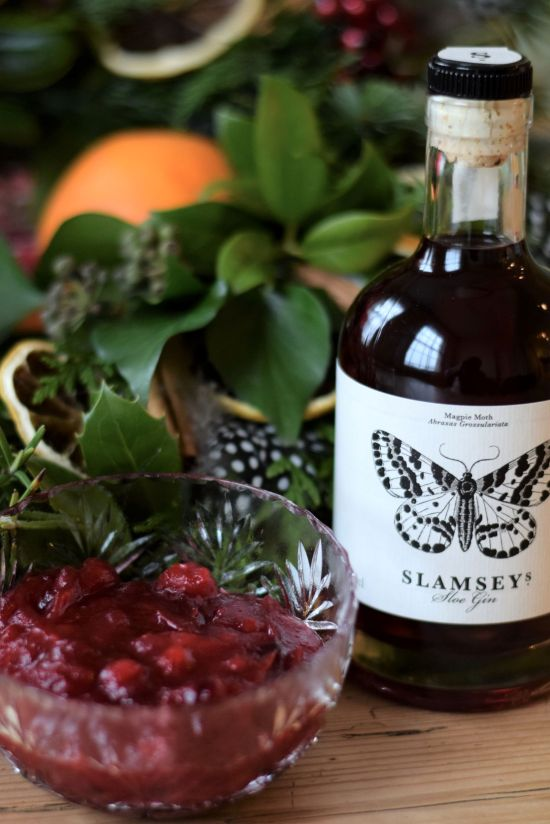 Slamseys Sloe gin and cranberry sauce