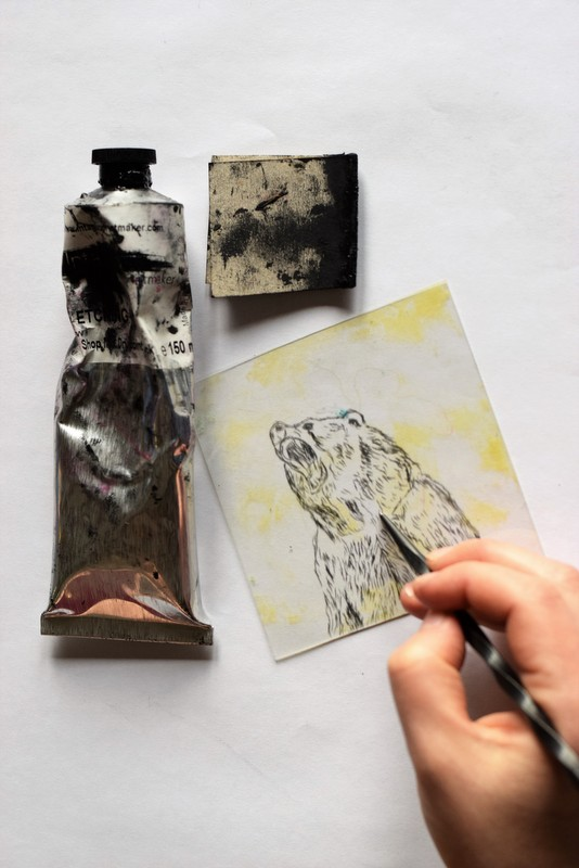 drypoint etching at Slamseys Printmaking in Essex