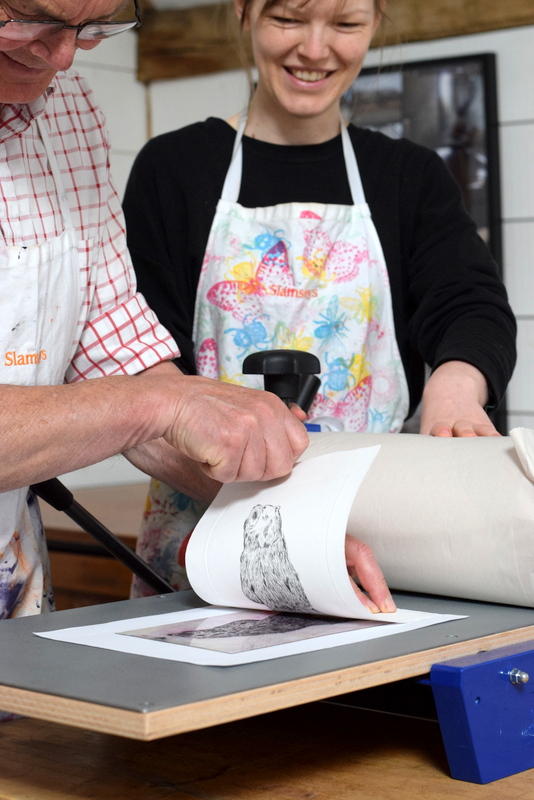 what is Drypoint printing, learn at Slamseys essex