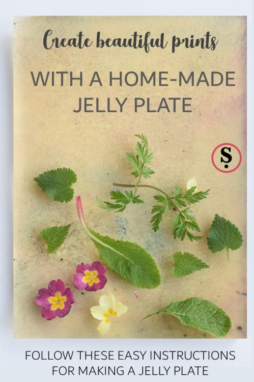 Create beautiful prints with a home-made jelly plate
