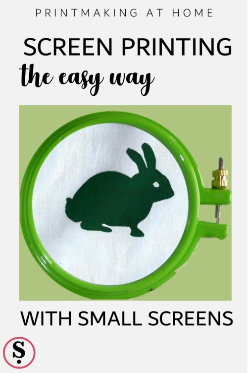Printmaking At Home | Screenprinting the easy way with small screens
